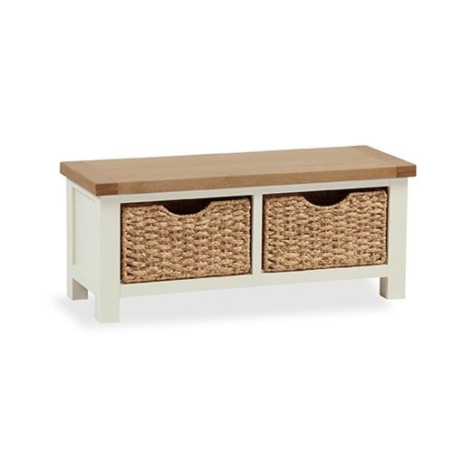 Windsor SMALL BENCH WITH BASKET